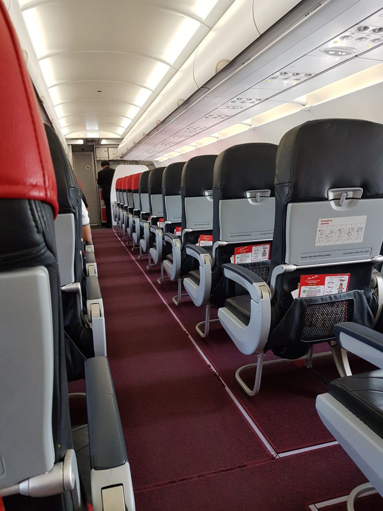almost empty plane