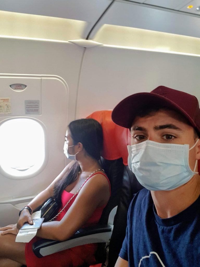 on the plane to bangkok