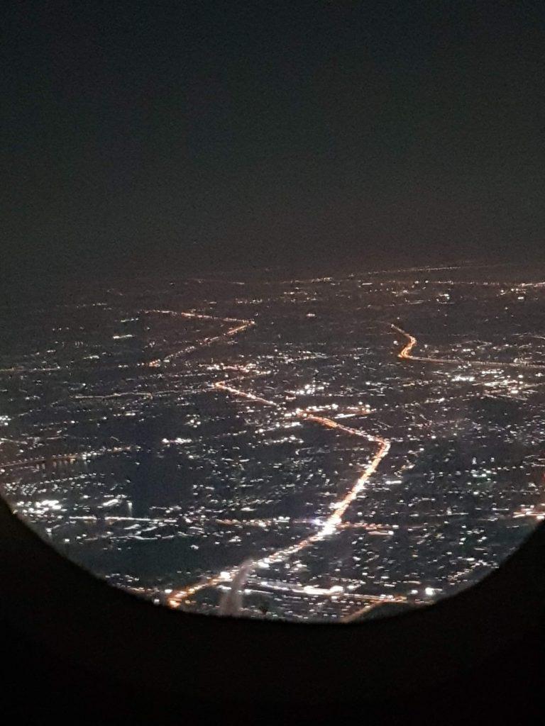 view over bangkok at night