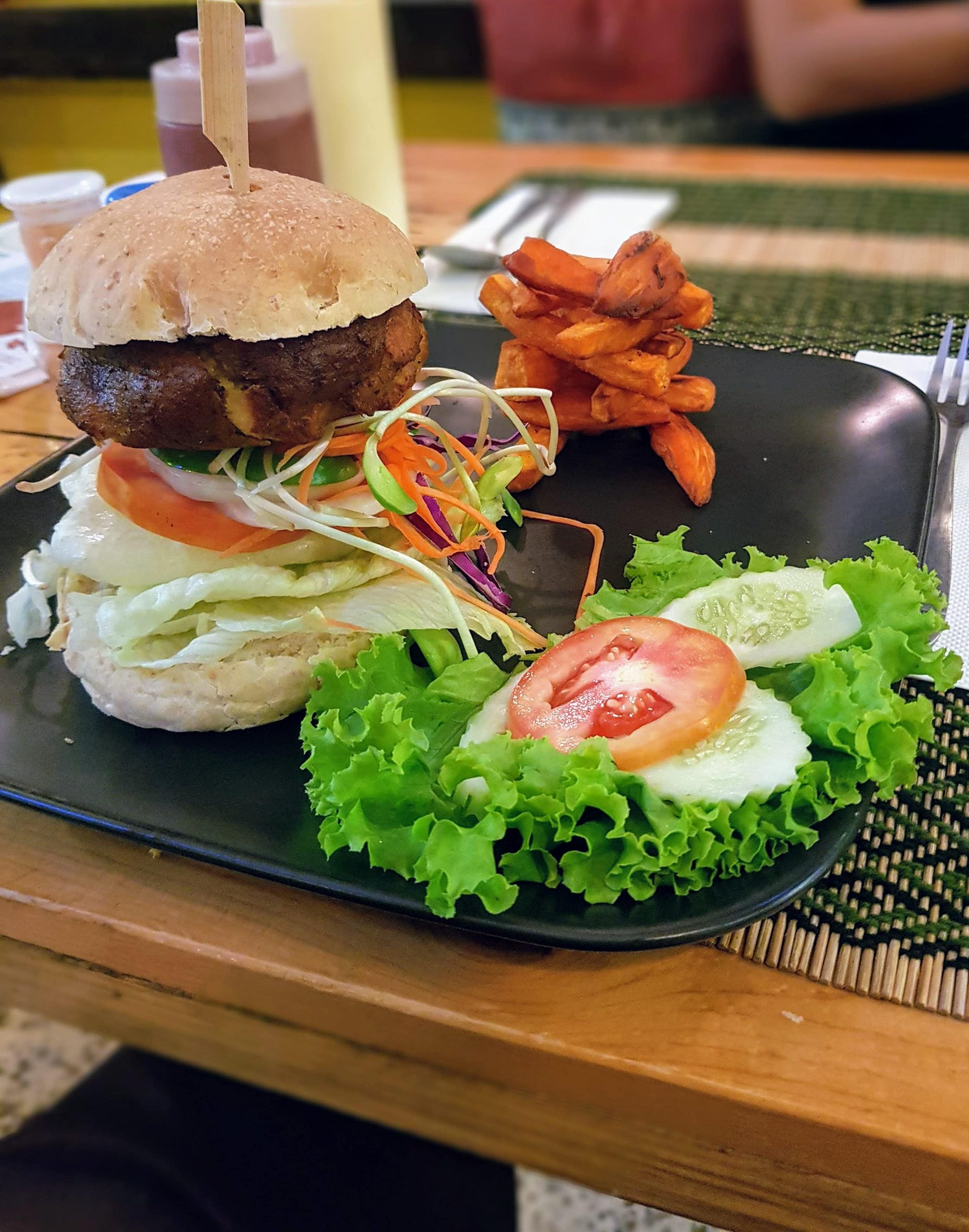 Quinoa burger at Taste From Heaven