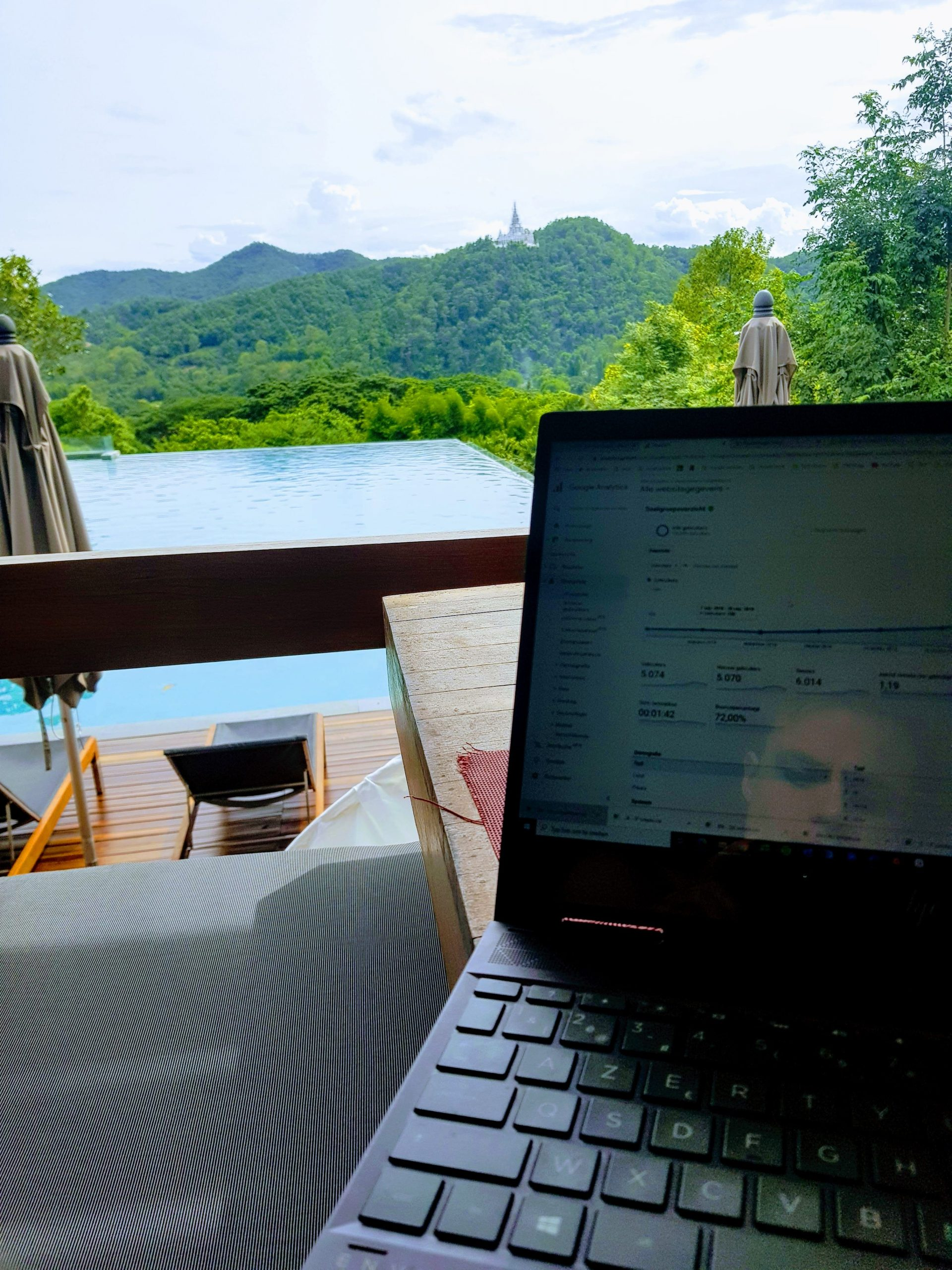 working with a view at veranda high resort